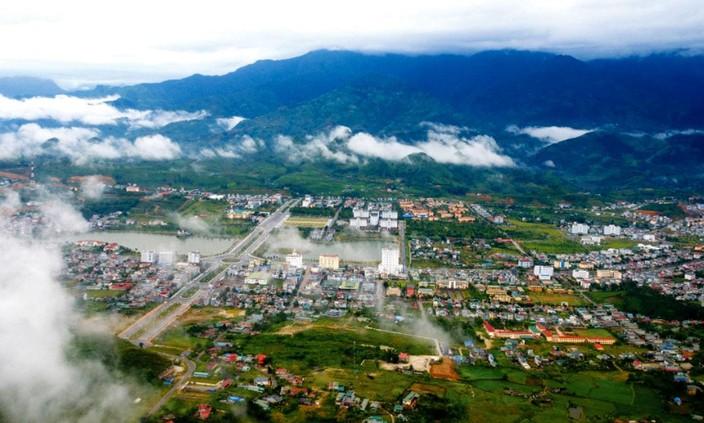 Dự án Khu đô thị thiên đường Mắc Ca tỉnh Lai Châu có diện tích khoảng 41,66 ha, gồm: đất nhà ở liền kề 4.615,75 m2; đất trồng cây mắc ca 250.642,61 m2… Ảnh Báo Lai Châu