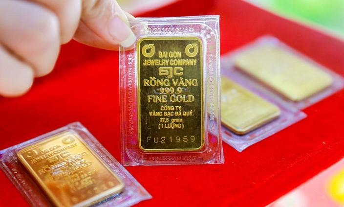 Giá vàng SJC trên thị trường ngày 22/9 tăng 50 nghìn đồng/lượng so với giá giao dịch cuối ngày 21/9. Ảnh: Linh Linh
