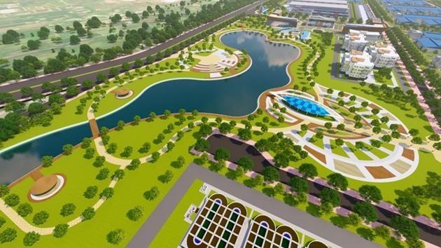Quy mô sử dụng đất của Dự án Đầu tư xây dựng và kinh doanh kết cấu hạ tầng Khu công nghiệp Nam Tân Lập, tỉnh Long An là 244,74 ha
