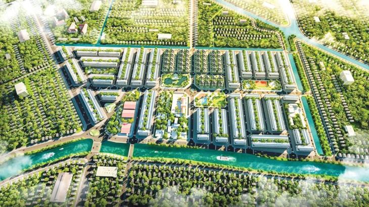 Dự án Khu đô thị mới Khu vực 4, Phường V, TP. Vị Thanh, tỉnh Hậu Giang có tổng diện tích quy hoạch 27,6 ha