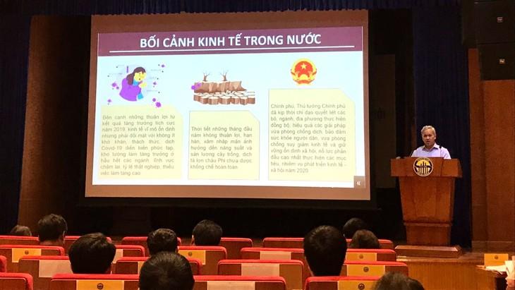 Ông Nguyễn Bích Lâm, Tổng cục trưởng Tổng cục Thống kê công bố GDP quý I/2020