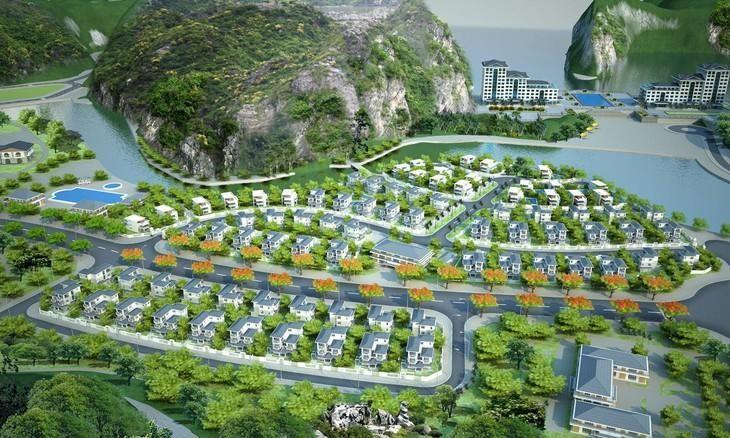 Phối cảnh Dự án Khu đô thị du lịch Cái Giá - Cát Bà