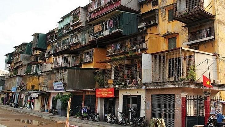 Xây dựng khung cơ chế chính sách cải tạo, xây dựng lại chung cư cũ trên địa bàn thành phố Hà Nội. Ảnh minh họa: Internet
