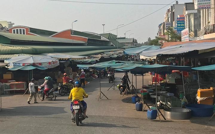 Một góc chợ thị trấn Lai Vung (Đồng Tháp). Ảnh internet
