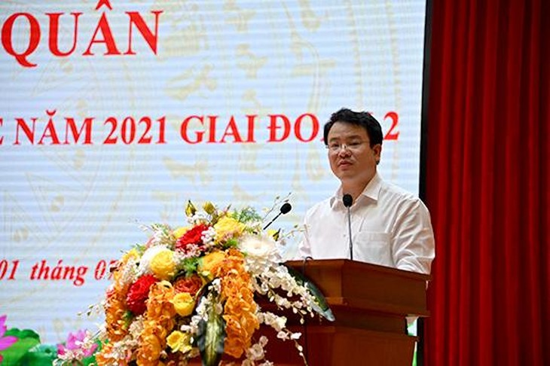 Thứ trưởng Bộ Kế hoạch và Đầu tư Trần Quốc Phương phát biểu tại Lễ ra quân ở Hà Nội (ảnh: Tạp chí con số và sự kiện)