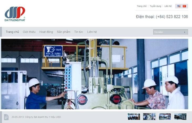 Website thông tin của Tổng công ty CP Khoáng sản và Công nghiệp Đại Trường Phát