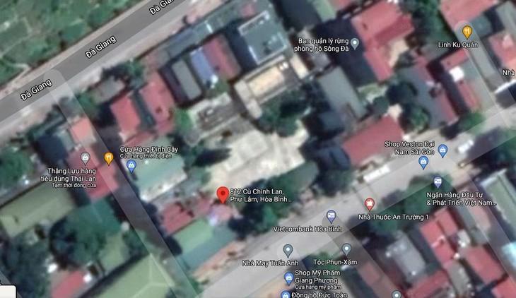 Khu trụ sở liên cơ quan tại địa chỉ số 812, đường Cù Chính Lan, phường Phương Lâm, thành phố Hòa Bình, tỉnh Hòa Bình. Ảnh: Google map