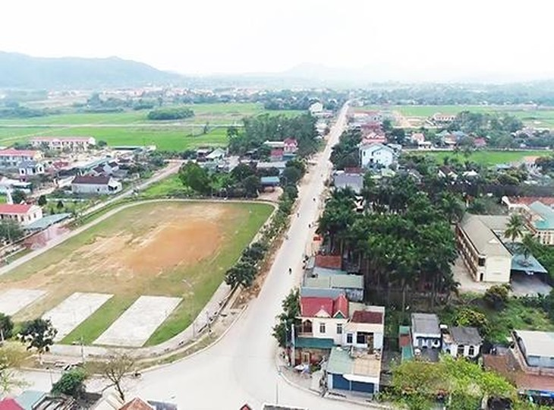 Trung tâm thị trấn Nghĩa Đàn, Nghệ An (ảnh internet)