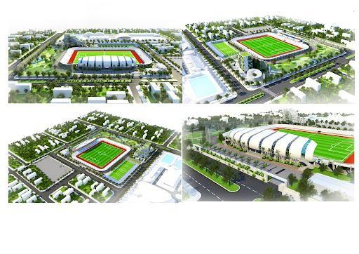 Phối cảnh Sân vận động Mạo Khê, thị xã Đông Triều, Quảng Ninh