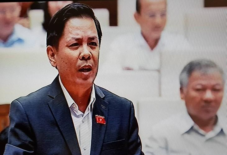 Bộ trưởng Bộ GTVT Nguyễn Văn Thể. Ảnh: Minh Thư