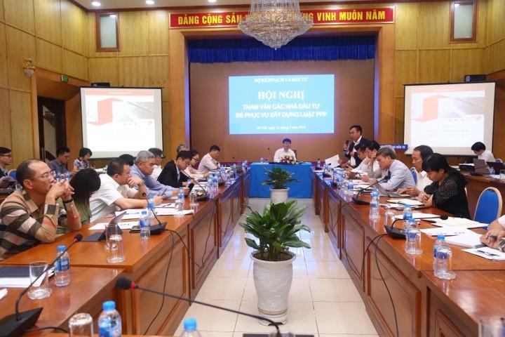Thứ trưởng Bộ KH&ĐT Nguyễn Đức Trung chủ trì Hội nghị tham vấn nhà đầu tư để phục vụ xây dựng dự án Luật PPP