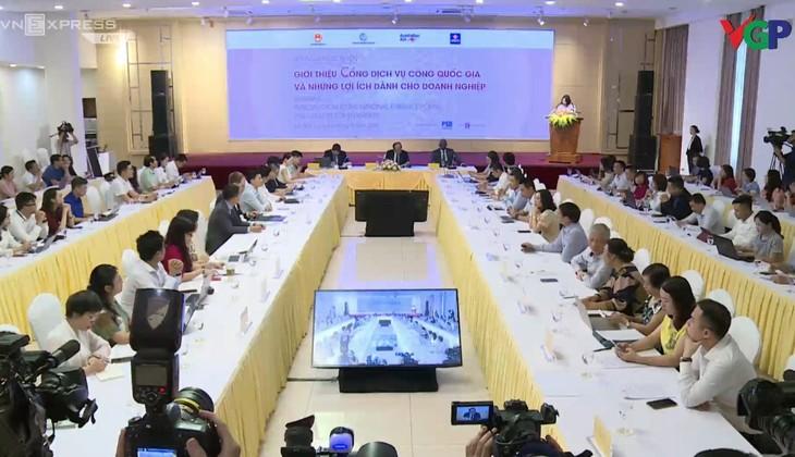 Bộ trưởng, Chủ nhiệm Văn phòng Chính phủ Mai Tiến Dũng và Giám đốc Quốc gia Ngân hàng Thế giới tại Việt Nam Ousmane Dione đồng chủ trì Hội nghị. Ảnh: VGP