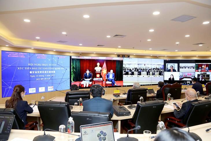 Hội nghị xúc tiến đầu tư vào tỉnh Nghệ An được tổ chức theo hình thức trực tuyến. Ảnh: MPI