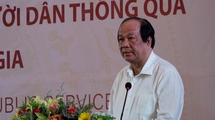 Bộ trưởng Chủ nhiệm Văn phòng Chính phủ Mai Tiến Dũng cho biết, Cổng dịch vụ công quốc gia là kênh tiếp nhận phản ánh, kiến nghị của người dân, doanh nghiệp