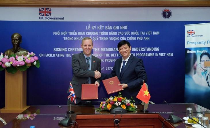 Việt Nam - Vương quốc Anh hợp tác trong lĩnh vực y tế