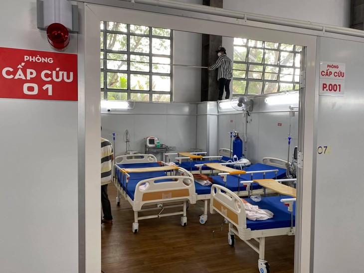 Bệnh viện dã chiến số 16 tại TP.HCM trước giờ đón bệnh nhân Covid-19