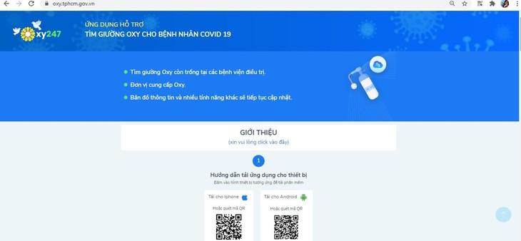 Hỗ trợ tìm giường Oxy cho bệnh nhân Covid-19 qua ứng dụng App Oxy 247