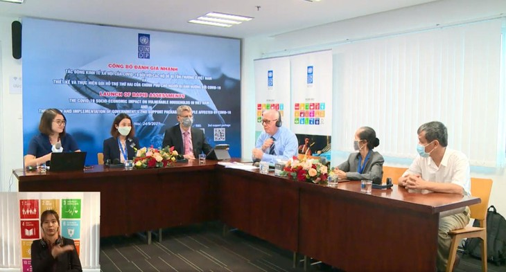 Buổi công bố trực tuyến Báo cáo Đánh giá nhanh về tác động kinh tế - xã hội của Covid-19 đối với các hộ gia đình dễ bị tổn thương ở Việt Nam và Báo cáo Đánh giá nhanh việc thiết kế và thực hiện Gói hỗ trợ thứ hai của Chính phủ cho những người bị ảnh hưởng bởi Covid-19