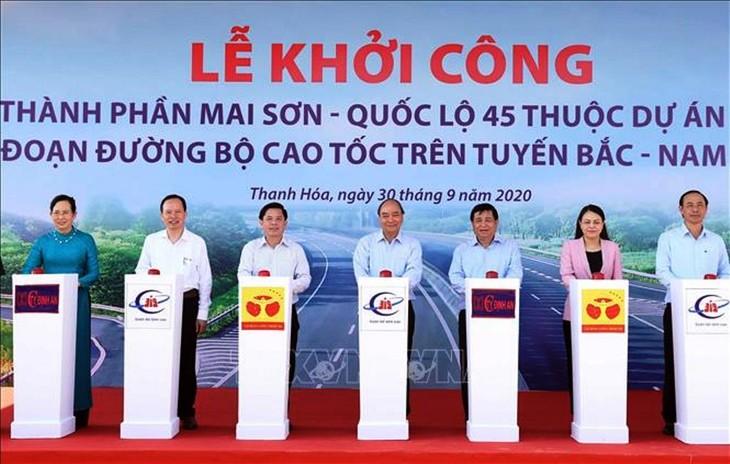 Chính thức khởi công cao tốc Mai Sơn - Quốc lộ 45
