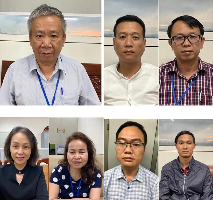 7 bị can bị khởi tố ngày 13/5/2021 do vi phạm quy định về đấu thầu gây hậu quả nghiêm trọng tại Bệnh viện Tim Hà Nội
