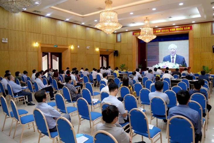 Ban chấp hành Đảng ủy, Bí thư đảng bộ, chi bộ các đơn vị của Bộ Kế hoạch và Đầu tư tham gia Hội nghị bằng hình thức trực tuyến