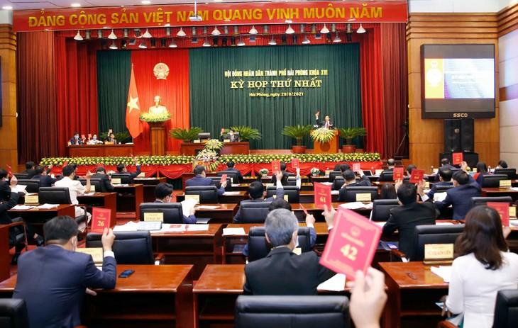 Sáng ngày 29/6/2021, Hội đồng nhân dân thành phố Hải Phòng khóa XVI đã khai mạc Kỳ họp thứ nhất - ảnh Thành Chung