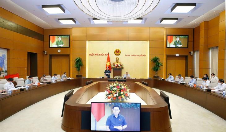 Chủ tịch Quốc hội Vương Đình Huệ và Thủ tướng Chính phủ Phạm Minh Chính chủ trì cuộc họp giữa Đảng đoàn Quốc hội và Ban cán sự Đảng Chính phủ sáng ngày 17/7/2021 - ảnh Thành Chung
