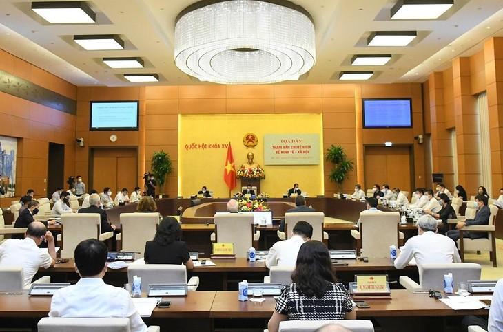 Toàn cảnh Tọa đàm tham vấn chuyên gia về kinh tế - xã hội sáng ngày 27/9/2021 - ảnh Thành Chung
