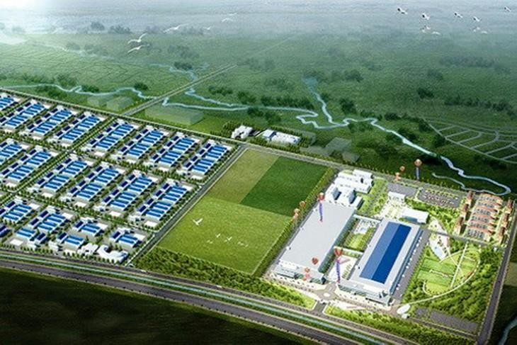 Dự án Đầu tư xây dựng Khu công nghệ thông tin tập trung Yên Bình, Thái Nguyên có quy mô 200 ha, tổng mức đầu tư hơn 2.957 tỷ đồng. Ảnh: TTXVN