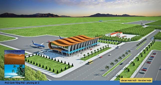 Dự án này sẽ kết nối sân bay Phan Thiết với hệ thống giao thông khu vực.