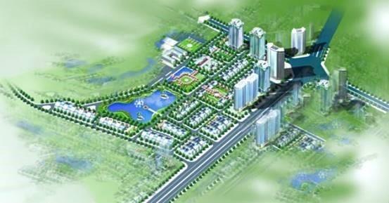 Mô hình khu chức năng đô thị Xuân Phương.