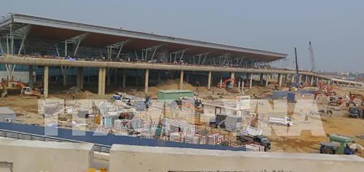 Công trường xây dựng nhà ga hành khách quốc tế - Cảng Hàng không quốc tế Đà Nẵng (ảnh chụp ngày 13/3). Ảnh: Văn Sơn/TTXVN