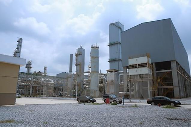 Dự án đầu tư mở rộng và nâng công suất Nhà máy phân đạm Hà Bắc từ 180.000 lên 500.000 tấn/năm là dự án trọng điểm của Tập đoàn Hóa chất Việt Nam với tổng mức đầu tư trên 568 triệu USD. (Ảnh: Hoàng Hùng/TTXVN)