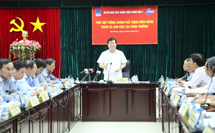 Phó Thủ tướng Trịnh Đình Dũng phát biểu kết luận buổi làm việc. Ảnh: VGP