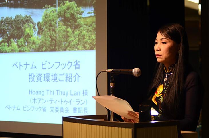 Bí thư tỉnh Vĩnh Phúc Hoàng Thị Thúy Lan phát biểu tại buổi hội thảo.