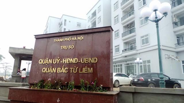 Trụ sở UBND quận Bắc Từ Liêm (Ảnh: HNM)