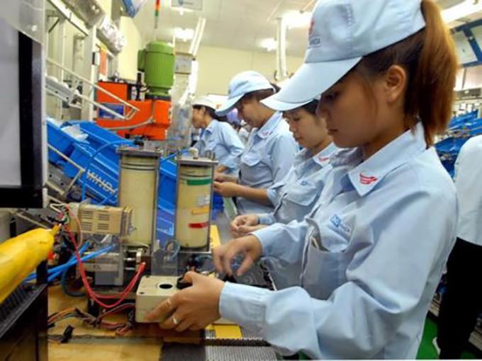 Quý I năm nay, chỉ số sản xuất công nghiệp tăng 4,1%. Ảnh: TTXVN