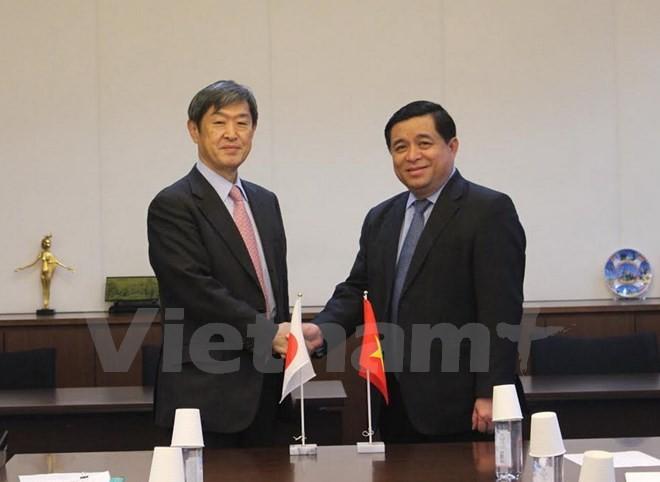 Bộ trường Bộ Kế hoạch đầu tư Nguyễn Chí Dũng tiếp Cơ quan hợp tác quốc tế Nhật Bản Kitaoka Shinichi.