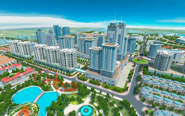 Phối cảnh khu đô thị Văn Phú.