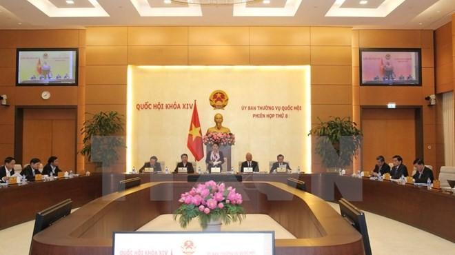Phiên họp thứ 8 của Ủy ban Thường vụ Quốc hội.