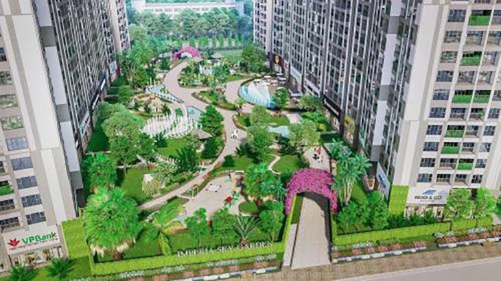 Phối cảnh dự án Imperia Sky Garden đang được chào bán rầm rộ. Ảnh: TTXVN
