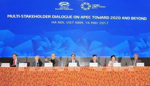 Chủ tịch nước Trần Đại Quang tham dự Đối thoại nhiều bên về APEC hướng tới 2020 và tương lai. Ảnh: TTXVN