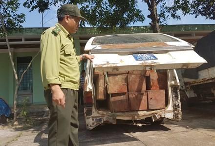 Chiếc xe hiện bị cơ quan chức năng tạm giữ.