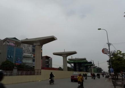 Dự án tuyến đường sắt đô thị số 3 đoạn Nhổn - Ga Hà Nội triển khai quá chậm.