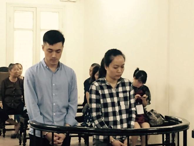 Bị cáo Linh và Thanh.