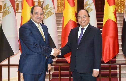Thủ tướng Nguyễn Xuân Phúc tiếp Tổng thống Ai cập Abdel Fattah Al Sisi. Ảnh: VGP