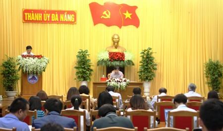 Quang cảnh họp báo do Thành ủy Đà Nẵng tổ chức. Ảnh: VGP