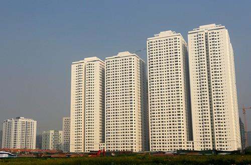 Khu chung cư HH của Tập đoàn Mường Thanh tại khu đô thị bán đảo Linh Đàm.