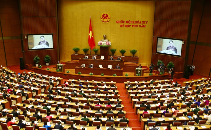 Chủ tịch Quốc hội phát biểu khai mạc Kỳ họp thứ 5 Quốc hội khóa XIV. Ảnh: Lê Tiên