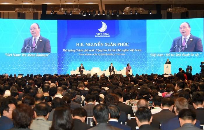 Hội nghị Thượng đỉnh Kinh doanh Việt Nam 2017. Ảnh minh họa: Internet